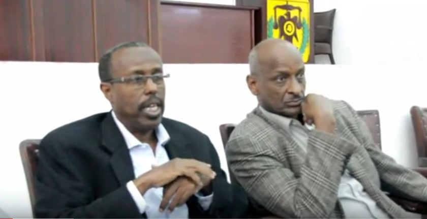 Guddoomiyaha iyo Afhayeenka Guddiga doorashooyinka Somaliland Photo File