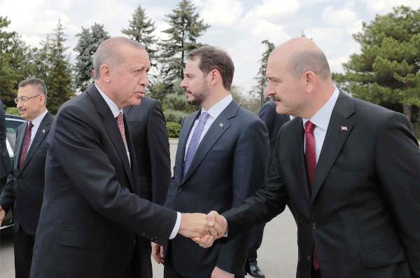 Reccep Tayyip Erdogan and Suleyman Soylu 2020