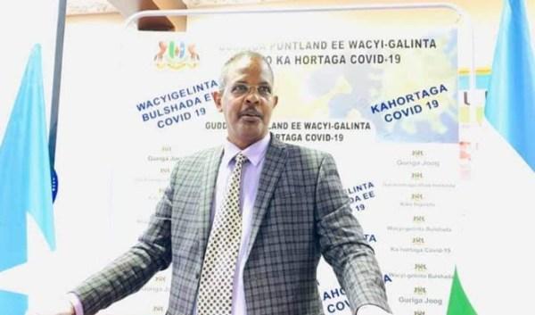 Wasiirka caafimaadka Puntland Dr. Jaamac Faarax Xasan 2020