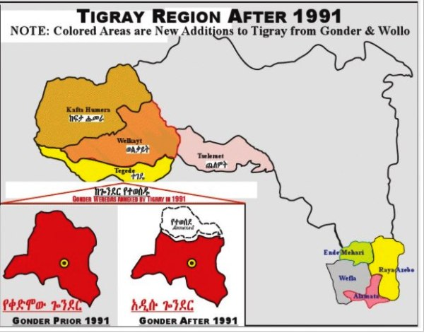 TIGRAY REGION MAP