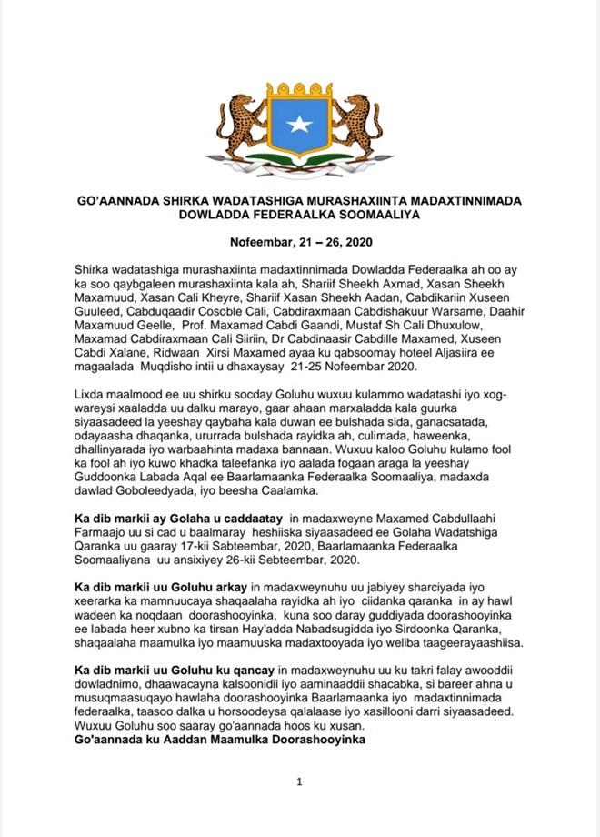 WAR-MURTIYEEDKA MIDAWGA MUSHARRIXIINTA SOMALIA 1 2020