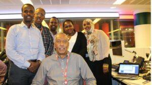 Axmed Cabdinuur iyo weriyayaal kale oo ka tirsan BBC