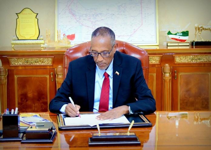 Madaxweynaha Somaliland Muuse Biixi Cabdi