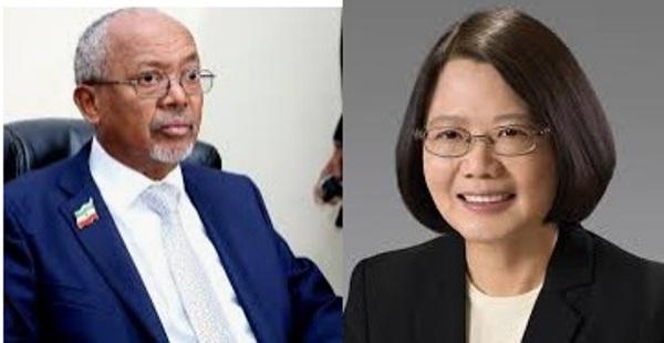 Madaxweynaha Taiwan Tsai Ingwen iyo Madaxweyne Ku-xigeenka Somaliland Abdiraxmaan Sayli'i 2020